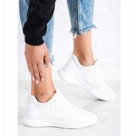SHELOVET Ażurowe Buty Sportowe białe 3