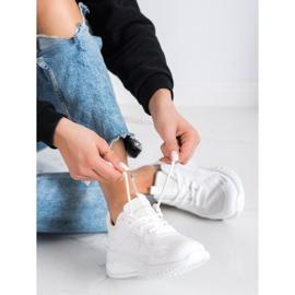SHELOVET Ażurowe Buty Sportowe białe 2