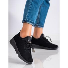 SUPER COOL Czarne Tekstylne Sneakersy 1