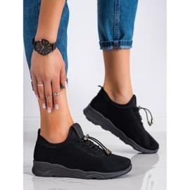 SUPER COOL Czarne Tekstylne Sneakersy 3