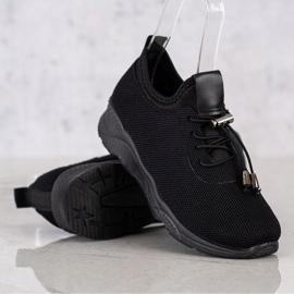 SUPER COOL Czarne Tekstylne Sneakersy 2