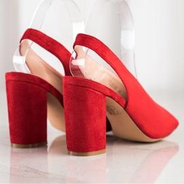 S. BARSKI Zabudowane Sandałki S.BARSKI czerwone 1