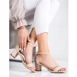 Goodin Eleganckie Sandały Z Cyrkoniami beżowy złoty 2