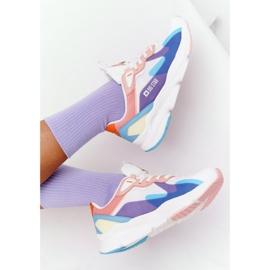 Damskie Sportowe Buty Memory Foam Big Star HH274809 Biało-Różowe białe fioletowe niebieskie 5