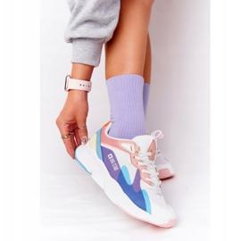 Damskie Sportowe Buty Memory Foam Big Star HH274809 Biało-Różowe białe fioletowe niebieskie 1