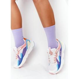 Damskie Sportowe Buty Memory Foam Big Star HH274809 Biało-Różowe białe fioletowe niebieskie 2