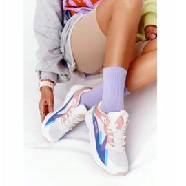 Damskie Sportowe Buty Memory Foam Big Star HH274809 Biało-Różowe białe fioletowe niebieskie 3