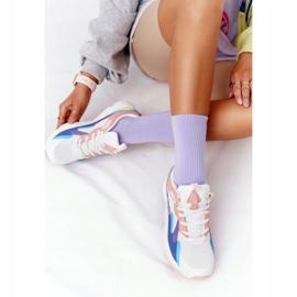 Damskie Sportowe Buty Memory Foam Big Star HH274809 Biało-Różowe białe fioletowe niebieskie 4