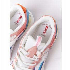 Damskie Sportowe Buty Memory Foam Big Star HH274809 Biało-Różowe białe fioletowe niebieskie 7
