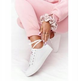 Big Star Damskie Eko-Skóra Tenisówki Cross Jeans HH2R4001C Białe 2
