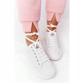 Big Star Damskie Eko-Skóra Tenisówki Cross Jeans HH2R4001C Białe 1