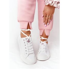 Big Star Damskie Eko-Skóra Tenisówki Cross Jeans HH2R4001C Białe 3