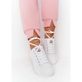 Big Star Damskie Eko-Skóra Tenisówki Cross Jeans HH2R4001C Białe 6
