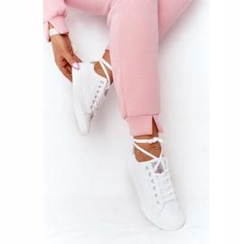 Big Star Damskie Eko-Skóra Tenisówki Cross Jeans HH2R4001C Białe 7