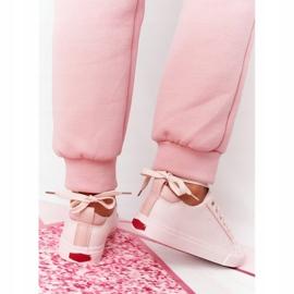 Big Star Damskie Eko-Skóra Tenisówki Cross Jeans HH2R4004C Różowe 4