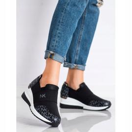SHELOVET Wsuwane Czarne Sneakersy 2
