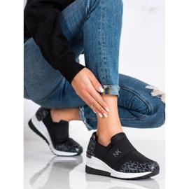 SHELOVET Wsuwane Czarne Sneakersy 1