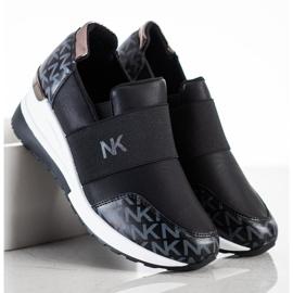 SHELOVET Wsuwane Czarne Sneakersy 3