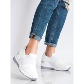 SHELOVET Wsuwane Białe Sneakersy 1