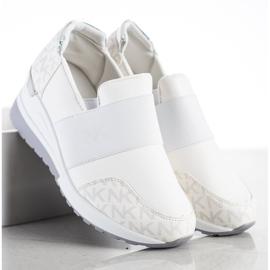 SHELOVET Wsuwane Białe Sneakersy 2