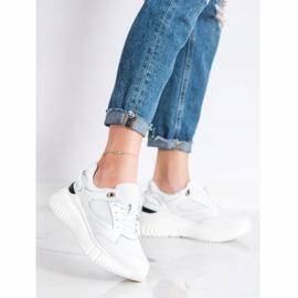Weide Białe Sneakersy Z Brokatem 1
