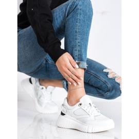 Weide Białe Sneakersy Z Brokatem 3