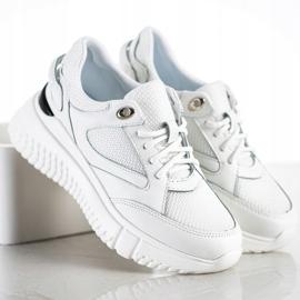 Weide Białe Sneakersy Z Brokatem 2