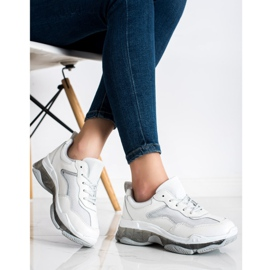 Goodin Sneakersy Ze Skóry białe 3