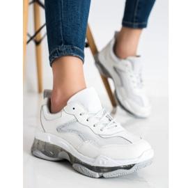 Goodin Sneakersy Ze Skóry białe 2