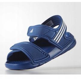 Sandały adidas Akwah 9 Jr S74649 niebieskie 4