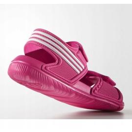 Sandały adidas Akwah 9 Jr AF3871 niebieskie różowe 1