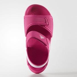 Sandały adidas Akwah 9 Jr AF3871 niebieskie różowe 3