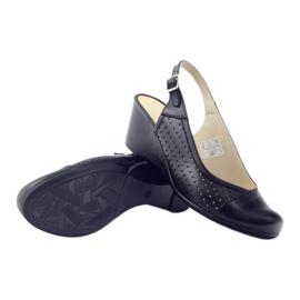 Sandały damskie kryte palce Gregors 591 cz czarne 3