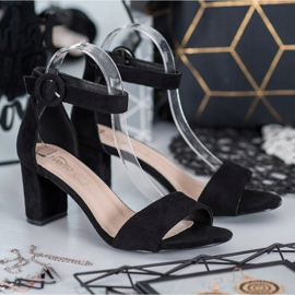 Evento Klasyczne Sandały Na Obcasie czarne 2