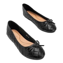 Czarne plecione balerinki Kaiden 1