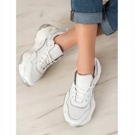 Goodin Skórzane Sneakersy białe wielokolorowe 1