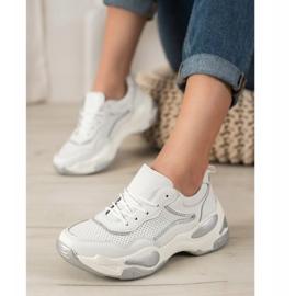 Goodin Skórzane Sneakersy białe wielokolorowe 2