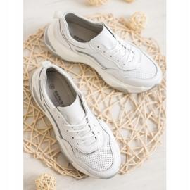 Goodin Skórzane Sneakersy białe wielokolorowe 4