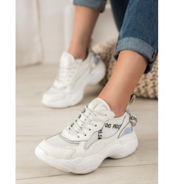 Goodin Białe Sneakersy Ze Skóry 1