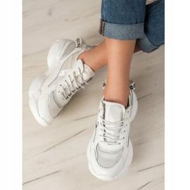 Goodin Białe Sneakersy Ze Skóry 4