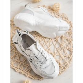 Goodin Białe Sneakersy Ze Skóry 3