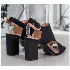 Stylowe Buty Na Obcasie VINCEZA czarne 3