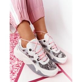 Damskie Sportowe Buty Memory Foam Big Star HH274326 Białe różowe wielokolorowe 8