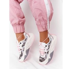 Damskie Sportowe Buty Memory Foam Big Star HH274326 Białe różowe wielokolorowe 1