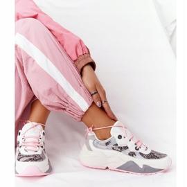 Damskie Sportowe Buty Memory Foam Big Star HH274326 Białe różowe wielokolorowe 2