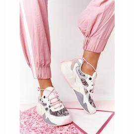 Damskie Sportowe Buty Memory Foam Big Star HH274326 Białe różowe wielokolorowe 3