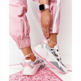 Damskie Sportowe Buty Memory Foam Big Star HH274326 Białe różowe wielokolorowe 4