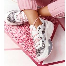 Damskie Sportowe Buty Memory Foam Big Star HH274326 Białe różowe wielokolorowe 5