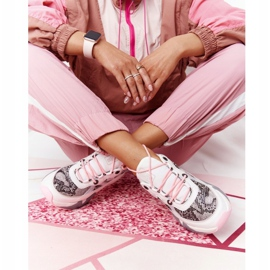 Damskie Sportowe Buty Memory Foam Big Star HH274326 Białe różowe wielokolorowe 6