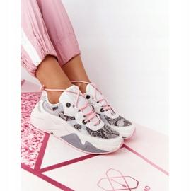 Damskie Sportowe Buty Memory Foam Big Star HH274326 Białe różowe wielokolorowe 7